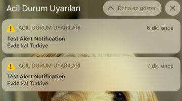 iPhone kullanıcılarına acil durum bildirimi: Evde kal Türkiye