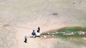 Antalya'da 2 bin 500 rakımlı yaylada drone gören çoban sopa ile drone kovaladı